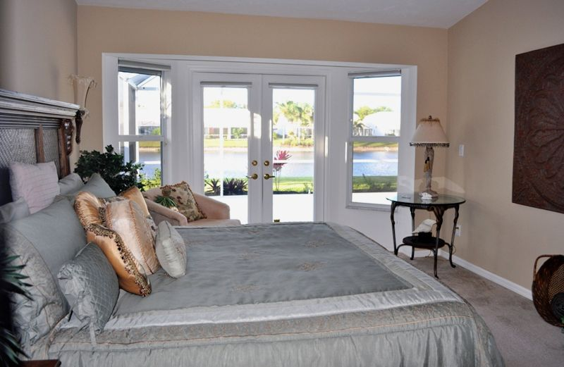 Vanderbilt Beach Lake Villa Vacation Rental Master Bedroom Naples Fl Rentals