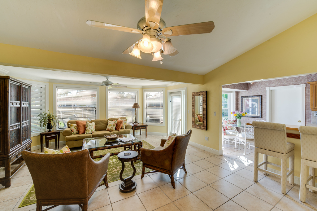 Living Room Ave U Menu By Gulf Coast Cottage Canal Home With Dock Naples Fl Rentals